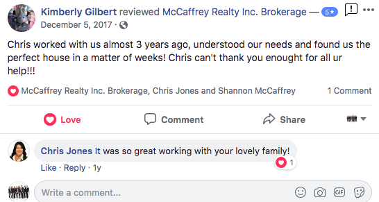 5-star review from recent client